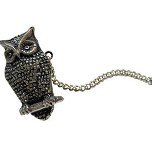 Perched Owl Tie Tack